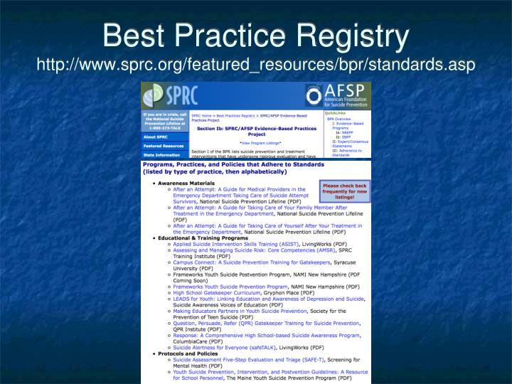 Best Practice Registry