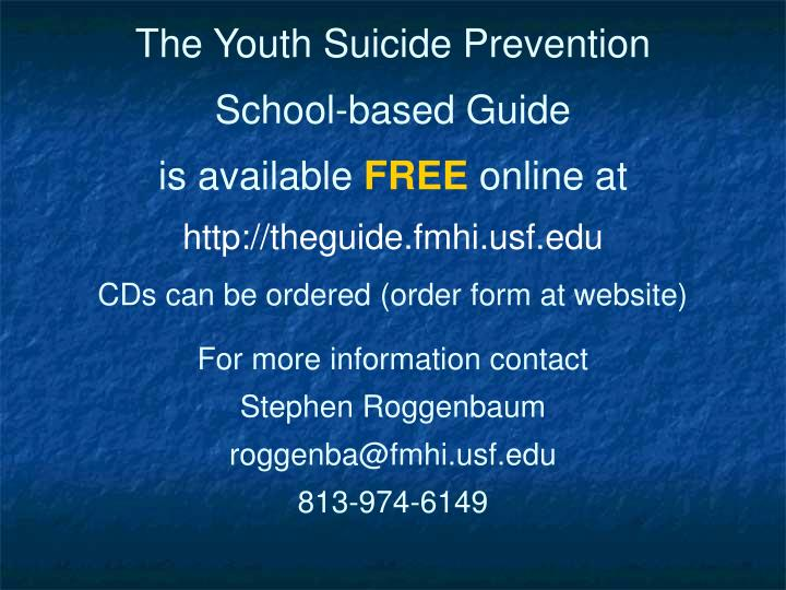 The Youth Suicide Prevention