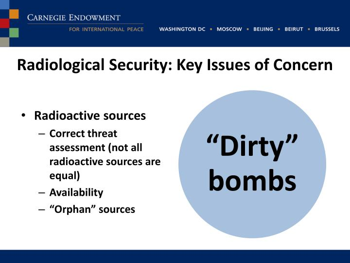 Radiological Security: Key Issues of Concern