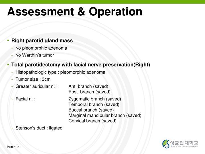 Assessment & Operation