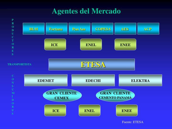 Agentes del Mercado