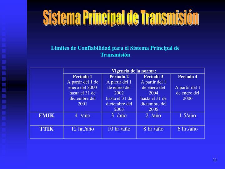 Sistema Principal de Transmisión