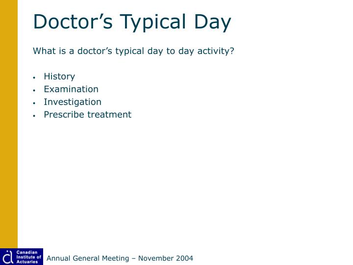 Doctor's Typical Day