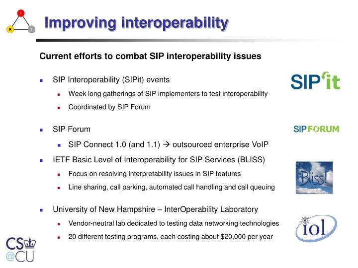Improving interoperability
