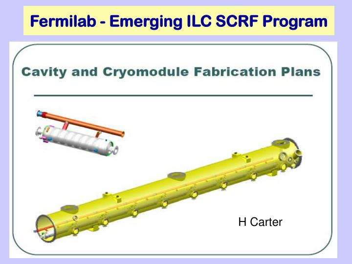 Fermilab - Emerging ILC SCRF Program
