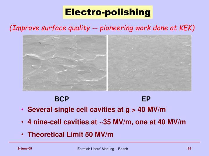 Electro-polishing