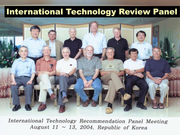 International Technology Review Panel