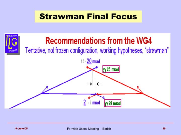 Strawman Final Focus