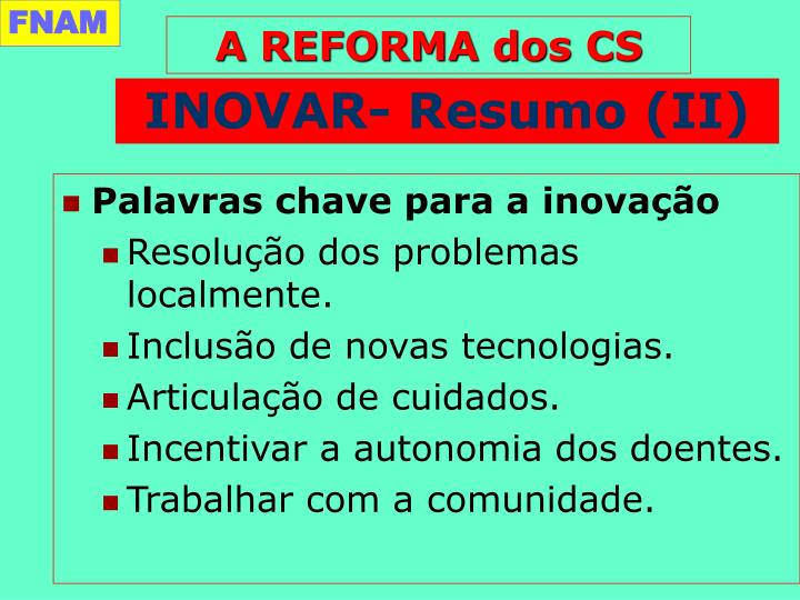 INOVAR- Resumo (II)