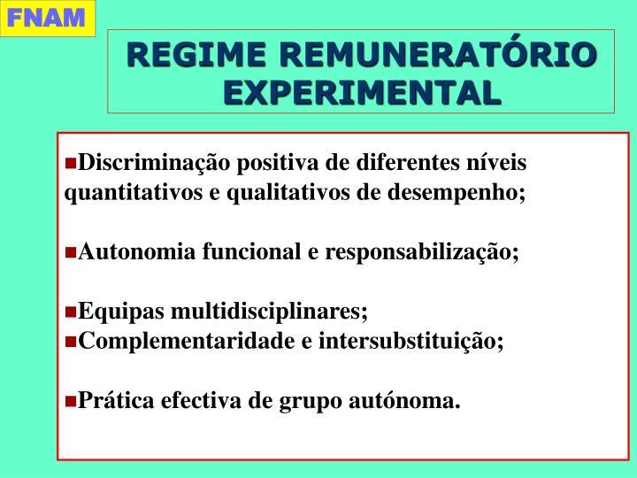 REGIME REMUNERATÓRIO