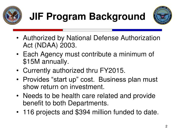 Jif program background