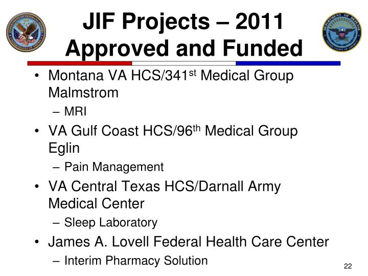 JIF Projects – 2011