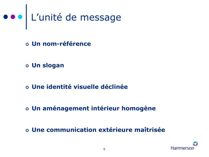 L'unité de message