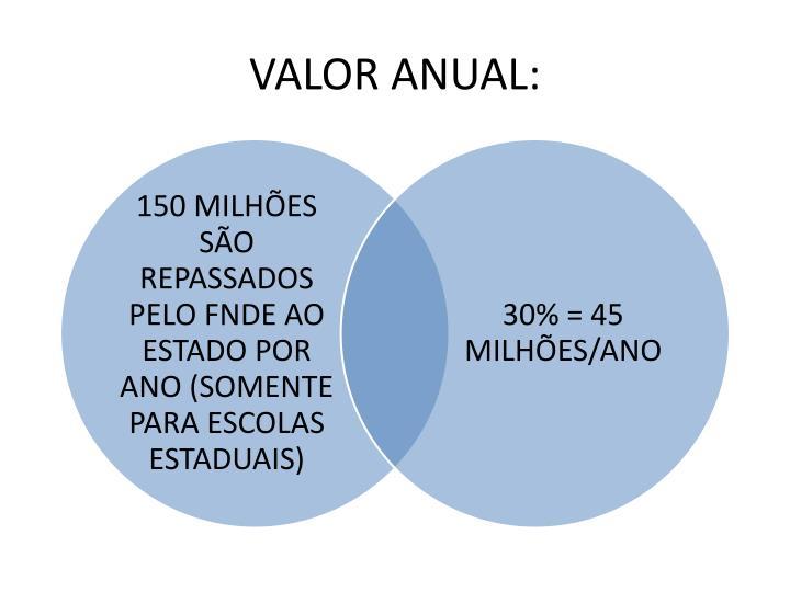 VALOR ANUAL: