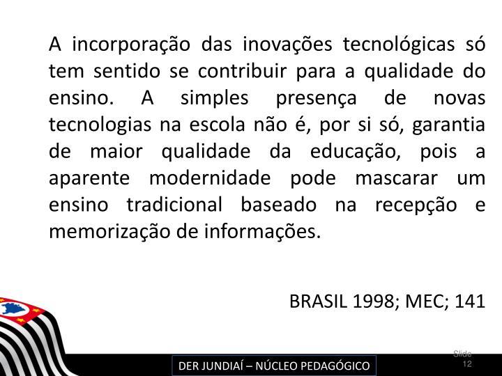BRASIL 1998; MEC; 141
