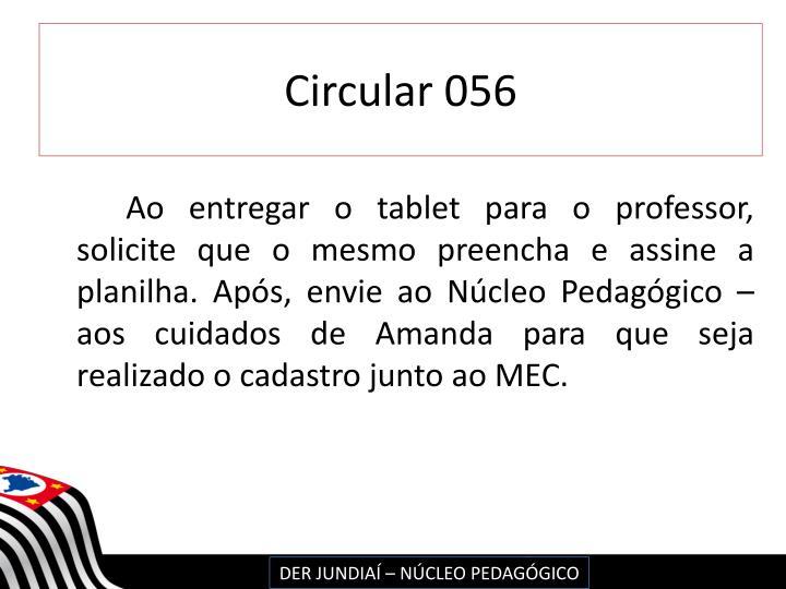 Circular 056