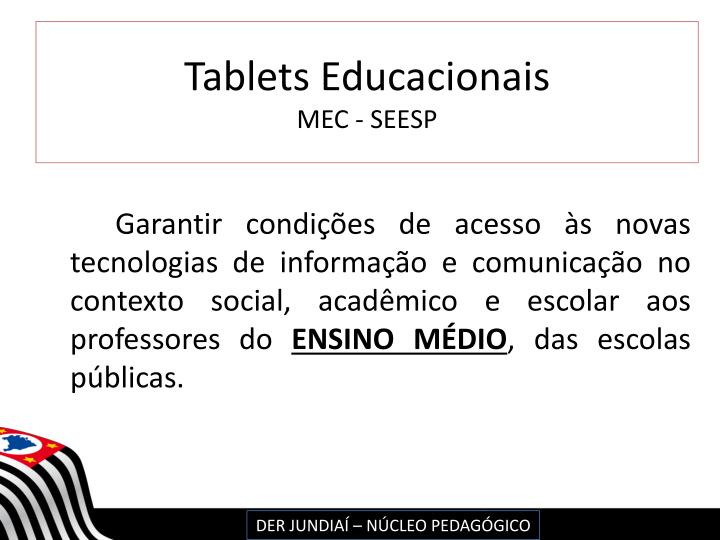 Tablets Educacionais