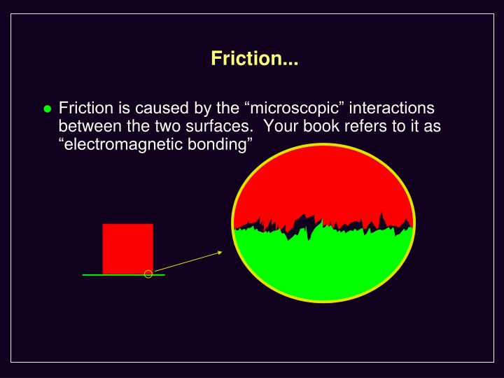 Friction...