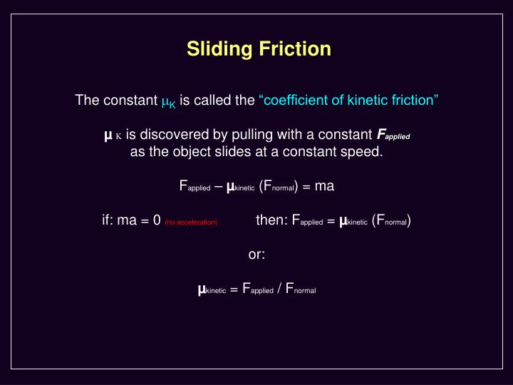Sliding Friction