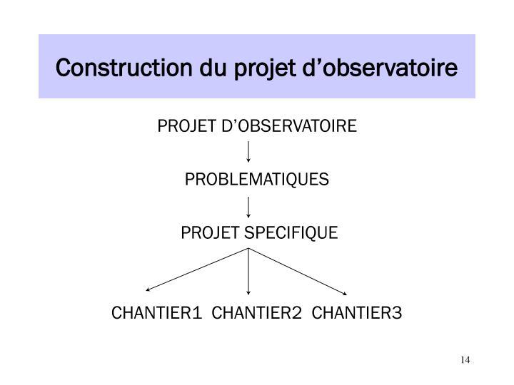 Construction du projet d'observatoire