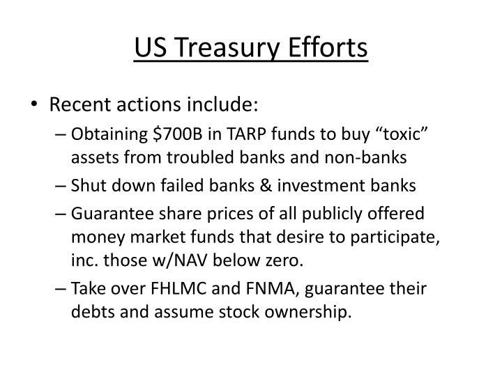 US Treasury Efforts
