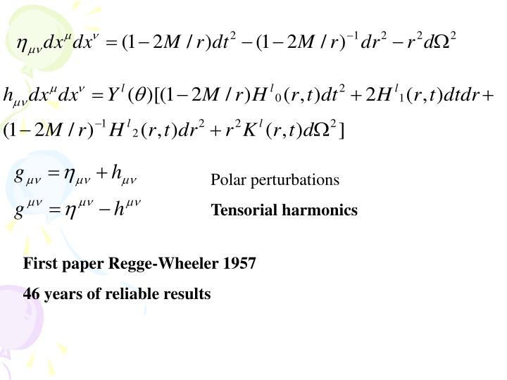 Polar perturbations