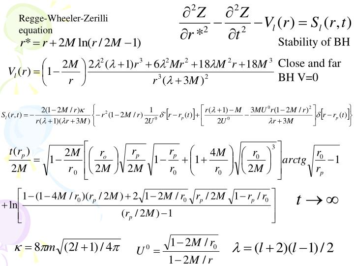 Regge-Wheeler-Zerilli      equation
