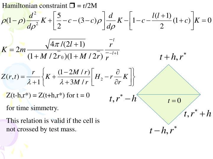 Hamiltonian constraint