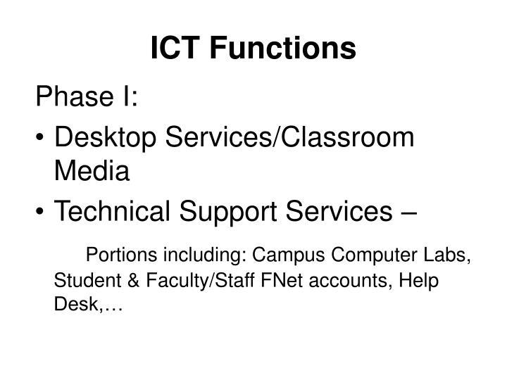 ICT Functions