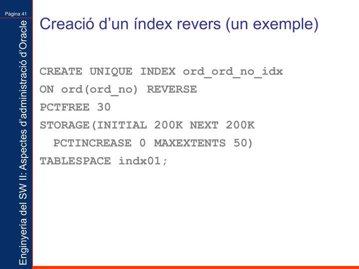 Creació d'un índex revers (un exemple)