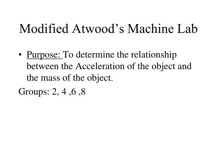 modified atwood s machine