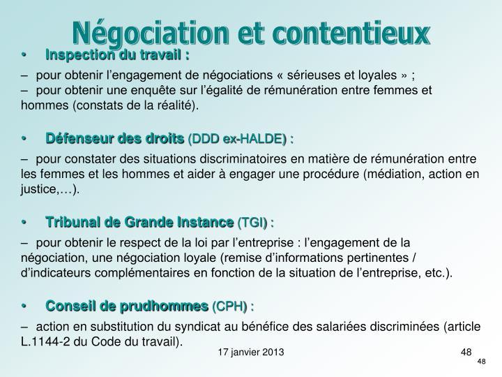 Négociation et contentieux