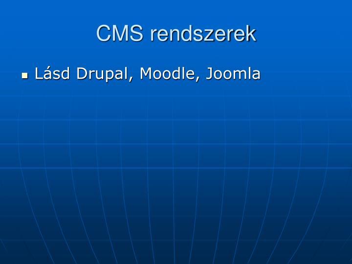 CMS rendszerek