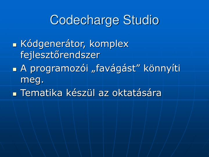 Codecharge Studio