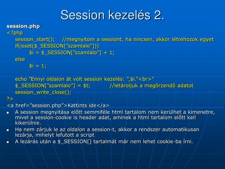 Session kezelés 2.