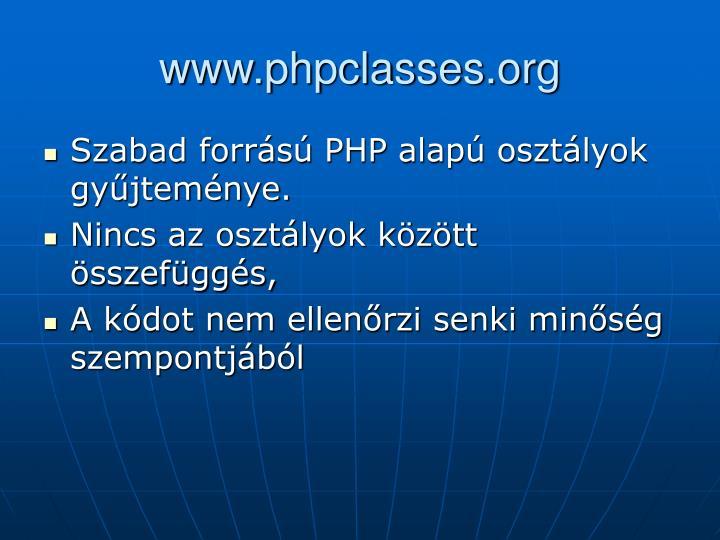 www.phpclasses.org