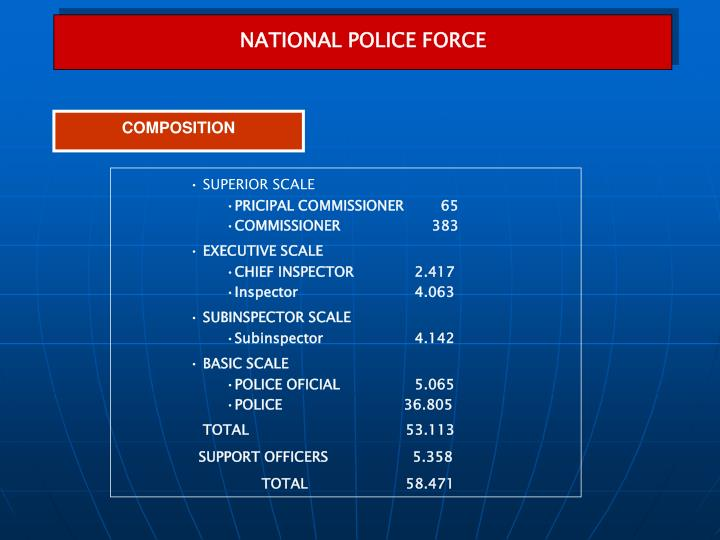 NATIONAL POLICE FORCE