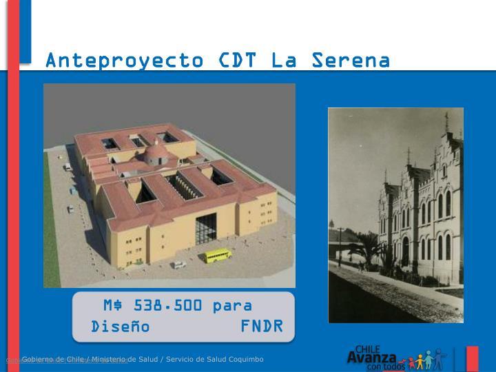 Anteproyecto CDT La Serena