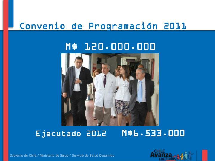 Convenio de Programación 2011 -2018