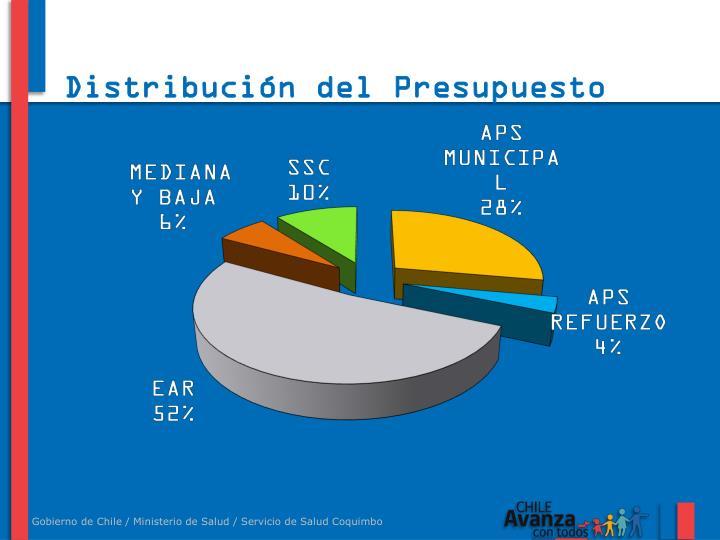 Distribución del Presupuesto