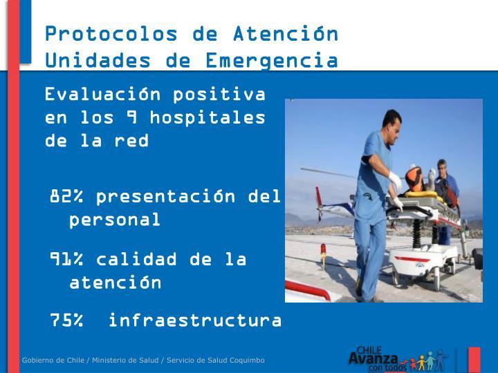 Protocolos de Atención Unidades de Emergencia