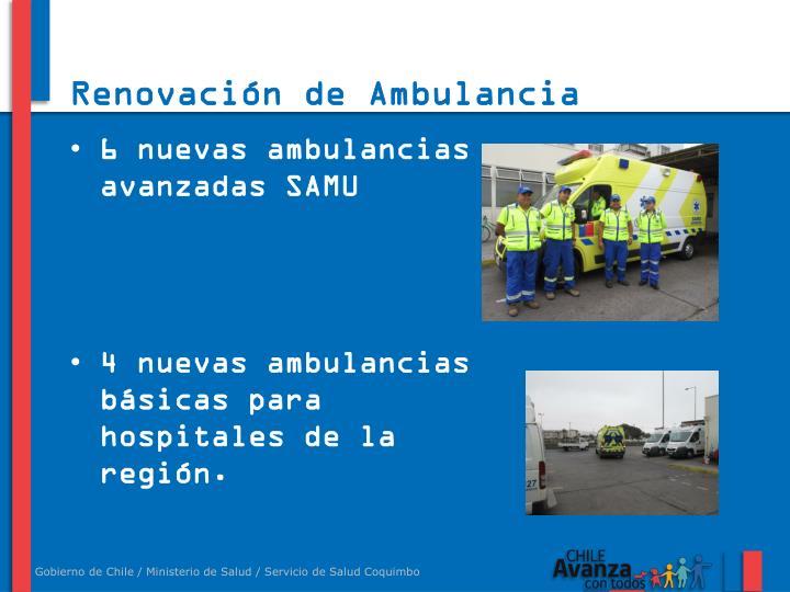 Renovación de Ambulancia