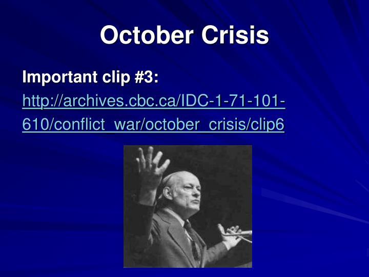 October Crisis
