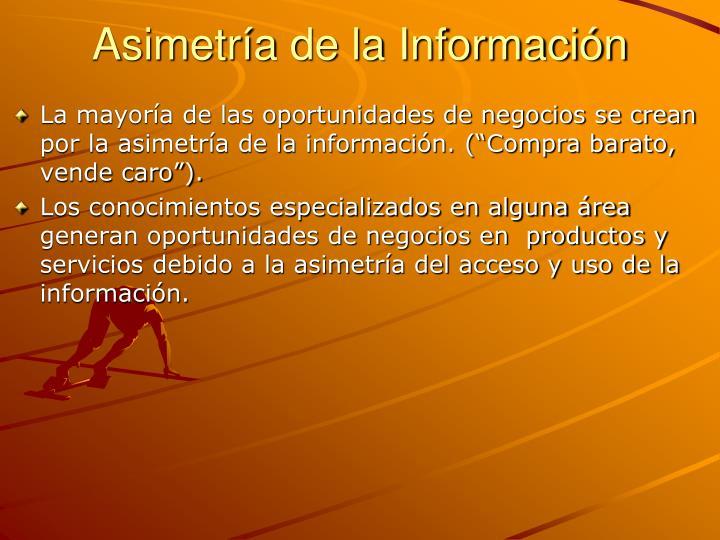 Asimetría de la Información