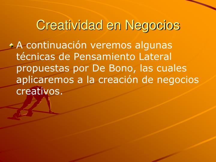 Creatividad en Negocios