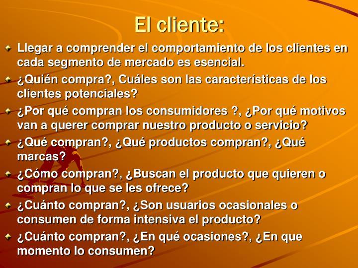 El cliente:
