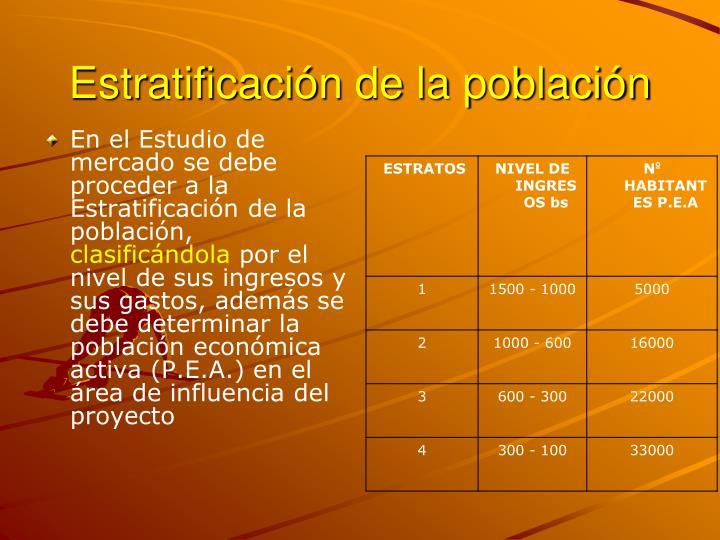 Estratificación de la población