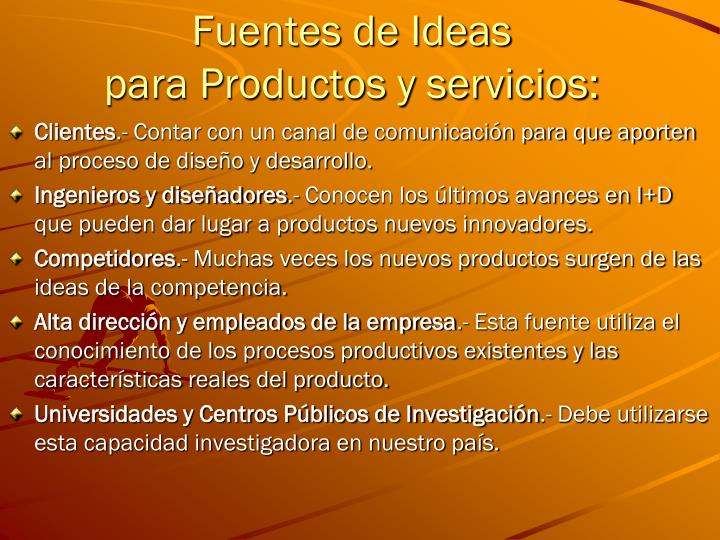 Fuentes de Ideas