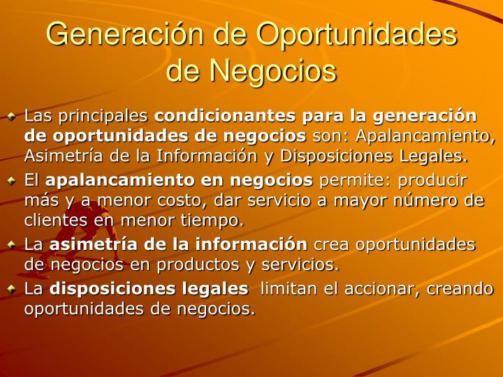 Generación de Oportunidades de Negocios