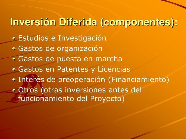 Inversión Diferida (componentes):